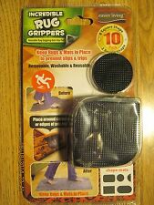 10 Pack Incredible Rug Grippers - Removable, Washable & Reusable Anti-Slip Pads