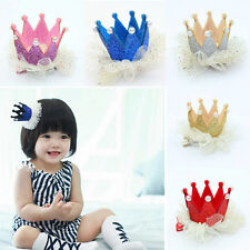Baby Girls 5 Colors Crown Pearl Princess Hair Clip Hairpin Party Accessories Hot