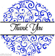 BLUE SWIRLS #103 THANK YOU STICKER LABELS