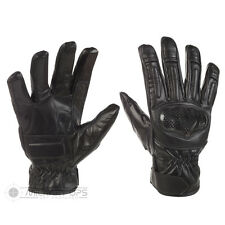 TACTICAL SPEC OPS GLOVES BLACK LEATHER HARD KNUCKLE ARMY AIRSOFT SECURITY SIA