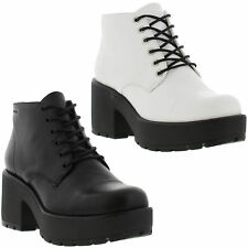 Vagabond Dioon Lace Boot Womens Leather Heeled Lace-Up Shoes Sizes UK 4 - 8