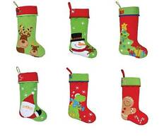"""Stephen Joseph Holiday Quilted Christmas Stocking 18"""" Kids Boys Girls Red New"""
