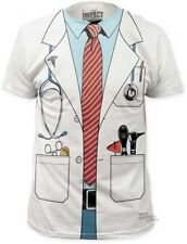 Doctor Costume Tee Stethoscope PHD Nurse Coat Funny Outfit Adult T-Shirt S-XXL