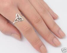 Triquetra Celtic Rings Sterling Silver 925 Symbols Jewelry Gift Size Selectable