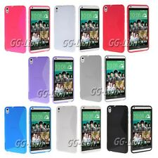 For HTC Desire 816 TPU S-Line Gel  Skin Cover Case +Screen Protector