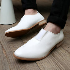 New man's Comfy  British leather  Pointed foot  business man's leisure shoes
