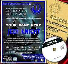 JEDI KNIGHT CERTIFICATE + CREED + FREE BONUS GAME - CHRISTMAS GIFT SET STAR WARS