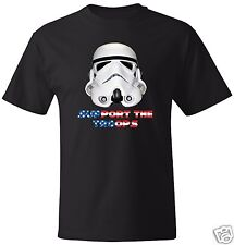 Support The Troops - USA Patriotic STAR WARS Stormtrooper T-Shirt Avail in M/W/Y