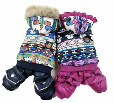 New Cute Snowman  Design Puff  Pet Dogs Winter Coat  free ship Dogs clothes