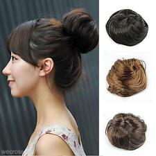 New Fashion Pony Tail Hairpiece Hair Bun Elastic Round Wig Hair Scrunchie Wig