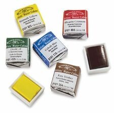 WINSOR AND NEWTON ARTISTS WATERCOLOUR HALF PANS -Series 3 & 4 - 31 Colours