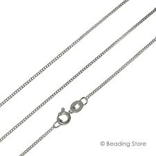 Various 925 Sterling Silver 1.2mm Curb Link Chain Necklace Spring Bolt Clasp