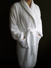 Hotel and Spa Edition Shawl Collar White 100% Terry Bathrobe - Sizes S M L XL