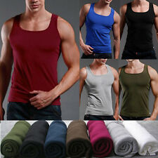 Hot Posh Mens 100% Cotton A-Shirt Top Quality Muscle Ribbed Wife Beater/Tank