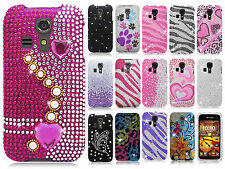 Kyocera Hydro Life C6530 Crystal Diamond BLING Hard Case Snap On Phone Cover