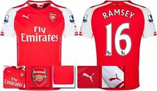 *14 / 15 - PUMA ; ARSENAL HOME SHIRT SS + PATCHES / RAMSEY 16 = KIDS SIZE*