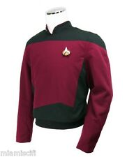 STAR TREK TNG Anovos Starfleet The Next Generation COMMAND PICARD Red Tunic TOP