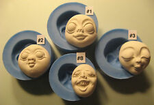 YOUR CHOICE - Flexible Silicone Mold Mould Doll Face Cab Female Character Goth