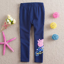 Cute Baby Kids Girls Princess Cartoon Peppa Pig Leggings Pants Trousers 2-6Y