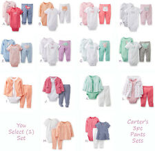Carters Baby Girl Newborn 3 6 9 12 18 24 Months 3 Piece Set Outfit Clothes NWT