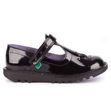 Girls Kickers Kick T Star Junior Patent Black Shoes