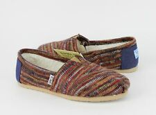 Toms Womens Classics Rust Knit with Free Domestic Shipping