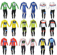 2013 New Cycling bicycle Sports long sleeves fleece thermal Jersey + BIB pants