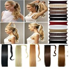 style synthetic Wrap Around clip in ponytail hair extensions pony tail wm