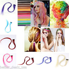 """Synthetic Fashion Colorful Highlight Hair Piece Clip In On Hair Extensions 20"""""""