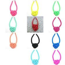 ab110m70 handmade cotton rope woven Chinese knot Fluorescent color necklace