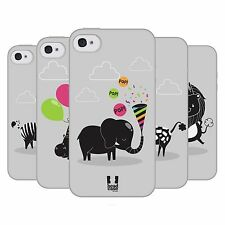 HEAD CASE PARTY ANIMALS TPU GEL BACK CASE COVER FOR APPLE iPHONE 4S