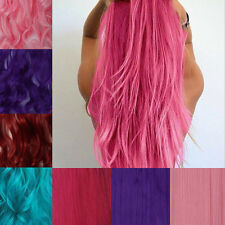 Half full head clip in hair extensions straight curly Pink Lady cosplay party