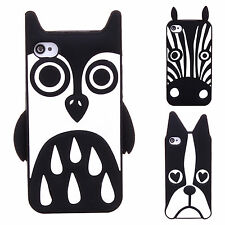For iPhone 4 4S 5 5S For Samsung Galaxy Phone Case 3D Animal Silicon Cover Skins
