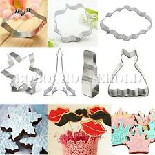 Stainless Steel Cookie Cutter Biscuit Jelly  Gingerbr Fondant Cake Mold Tool DIY