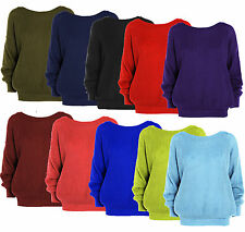 WOMENS LADIES BAGGY OVERSIZED CHUNKY KNIT SWEATER JUMPER CARDIGAN TOP PLUS SIZE