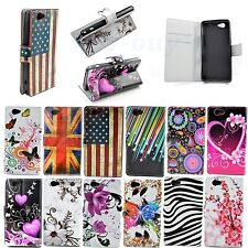 Flip Leather Wallet Phone Accessories Cover Case For Sony Xperia Z1 Compact Mini