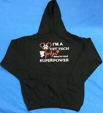 I'm a Vet Tech Whats Your Super Power Heavyweight Hooded Sweatshirt with Pockets