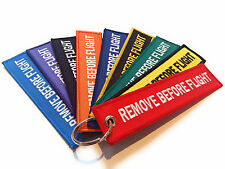 Remove Before Flight Luggage tag / Keyring / Keychain / High Quality