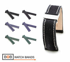 BOB Marino Vintage Canvas Deployment Band for Breitling, 20 & 22, 3 colors, new!
