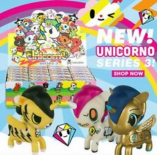 Tokidoki UNICORNO VINYL ART FIGURE Series 3, unicorn unicornos pony kidrobot UK