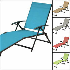 Folding Sling Chaise Lounger Outdoor Indoor Deck Yard Pool Lawn Patio Furniture