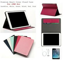 Slim PU Leather Smart Stand Case Cover for 2013 Apple iPad Air with card holder