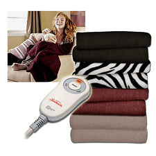 Sunbeam Electric Heated Fleece Warming Throw Blanket - Assorted Colors