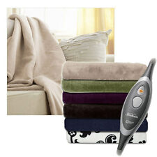 Sunbeam Microplush Electric Heated Throw Blankets - Assorted Colors