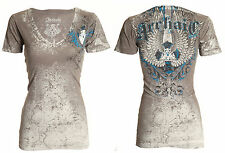 Archaic AFFLICTION Womens T-Shirt DIFFUSION Wings Tattoo Biker Sinful M-XL $32
