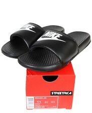 Nike Benassi Just Do It Swoosh Slide 343880-090 Black/White Slippers Mens