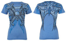 Xtreme Couture AFFLICTION Womens T-Shirt BATTLE-X Tattoo Biker Sinful XS-XL $32