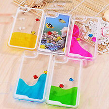 Freely Swimming Fishes Movable Hard Case Cover Skin for iPhone 5 5S 4 4S