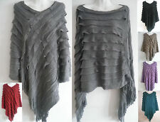 NEW Women Batwing Cape Poncho Knit Top Cardigan V-NECK Sweater Coat Outwear HOT