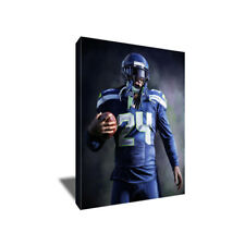 Seattle Seahawks MARSHAWN LYNCH Beast Mode poster photo CANVAS ART Painting